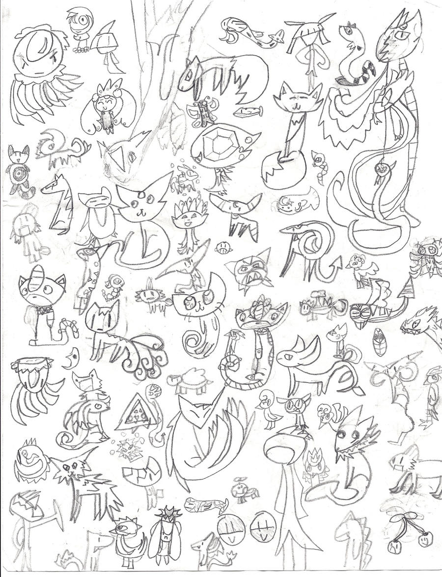 Super mutant pokemon drawing by almightytwistedfish on for All pokemon coloring pages