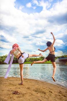 Fairy Tail: fem!Natsu and fem!Gray