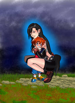 Chris with his mother Tifa