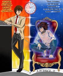 Death Note L Lawliet and Light Yagami