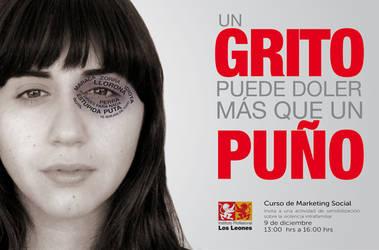 afiche contra la violencia by salinisky
