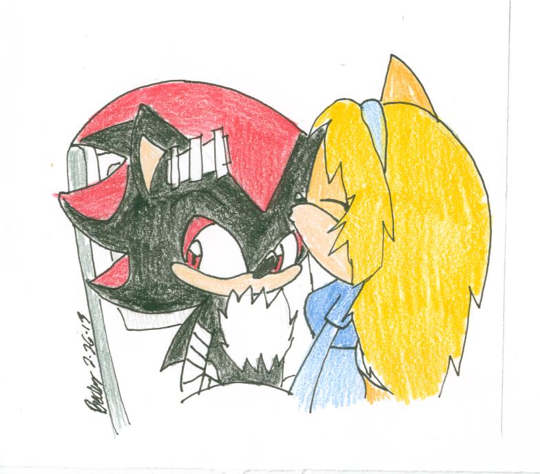 Shadow and Maria Forehead Kiss by beckf3000 on deviantART