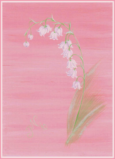 Lily-of-the-Valley Card by JoannaMoory