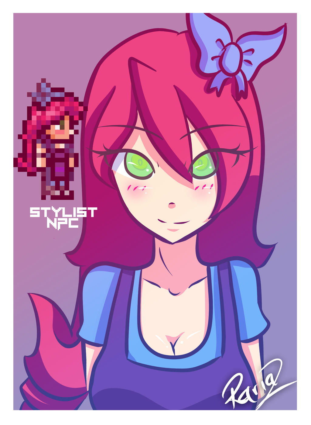 Anime Characters In Terraria : Stylist terraria npc rariaz by on deviantart