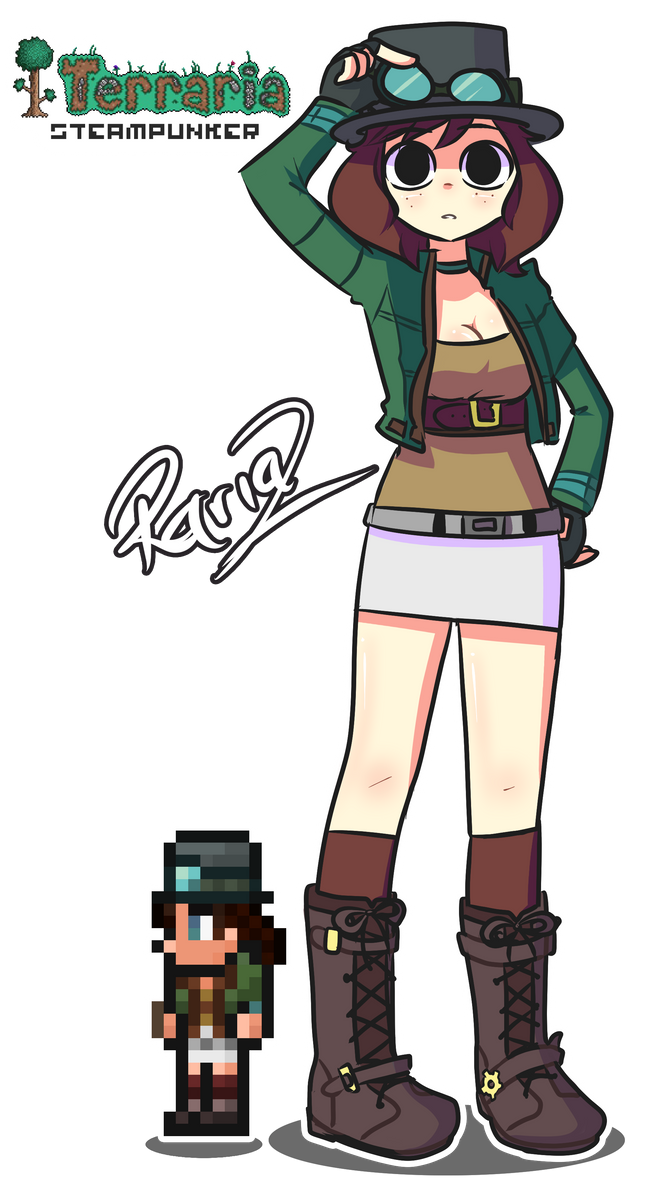 Anime Characters In Terraria : Steampunker terraria by rariaz on deviantart