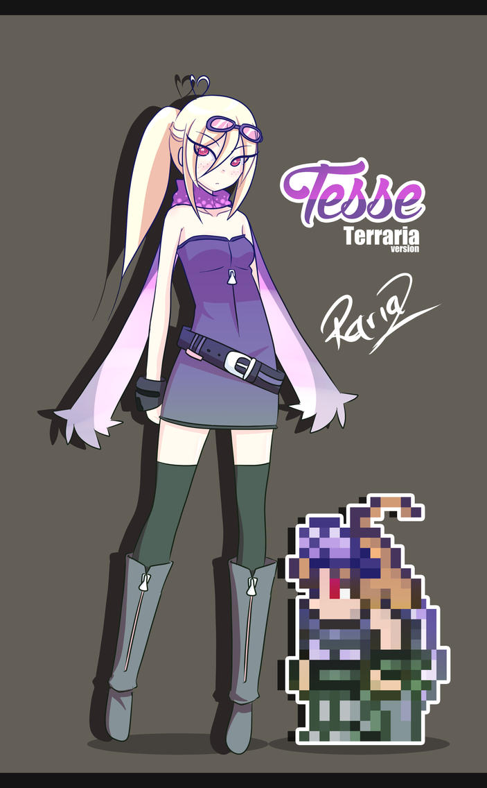 Anime Characters In Terraria : Tesse terraria version by rariaz on deviantart