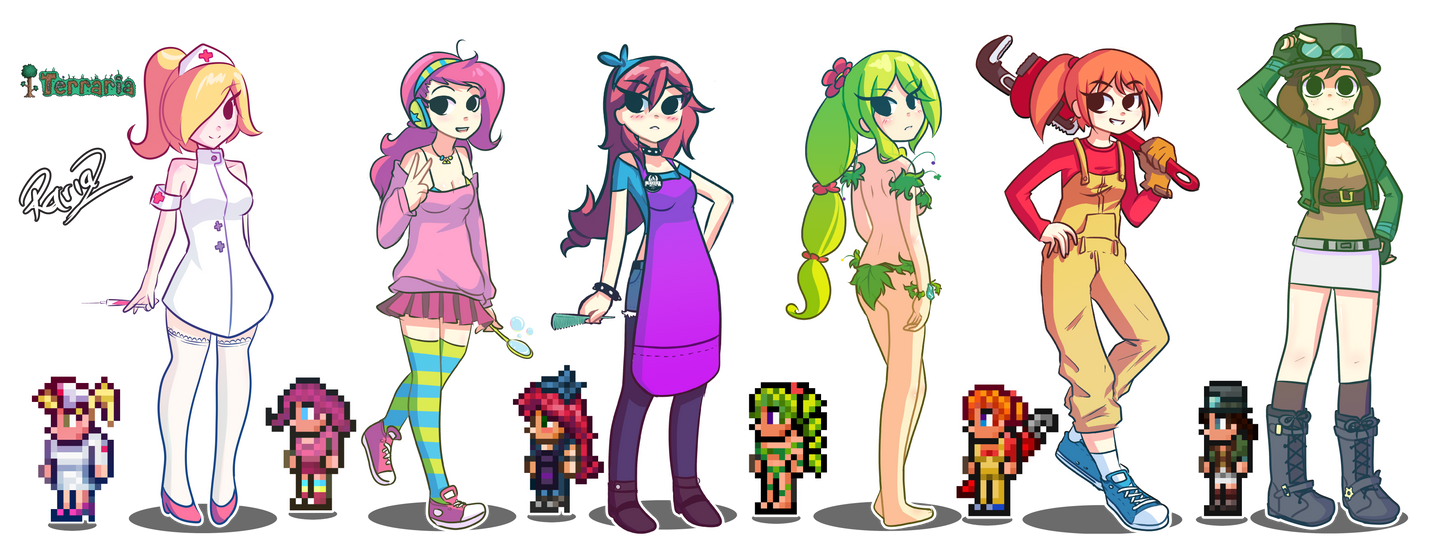 Anime Characters In Terraria : For you terraria by rariaz on deviantart
