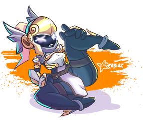 Spiral knights pose (Commission)