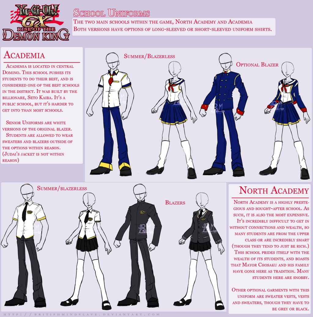 .:RotDK: School Uniforms Concept:. by BritishMindslave