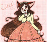 .:Fox in a Peach Dress:. by BritishMindslave
