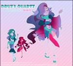 .:[SU] Druzy Quartz: Kornerupine + Bixbite :.