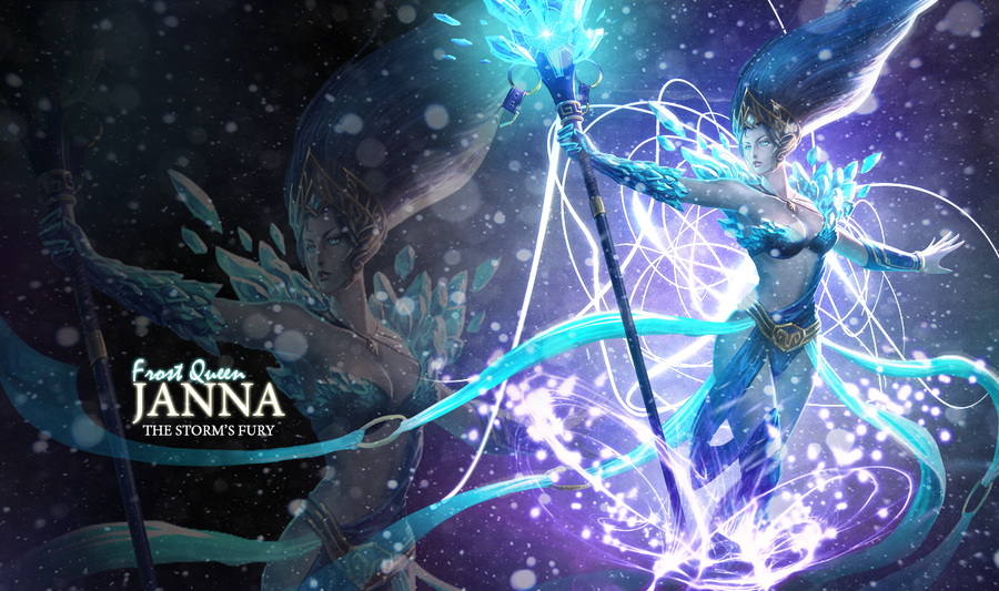 LOL Janna wallpaper by xSilverRose