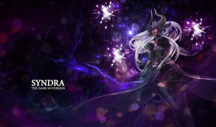 LOL Syndra wallpaper by xSilverRose on DeviantArt