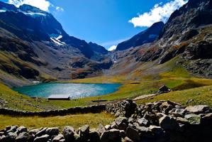 Oisans - Mountain Lake 2 by LLukeBE