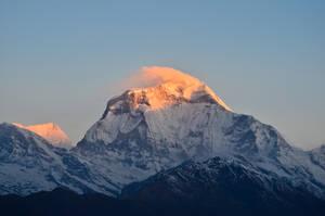 First light on Dhaulagiri by LLukeBE