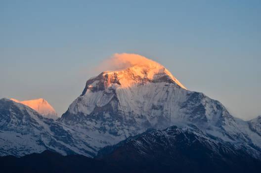First light on Dhaulagiri