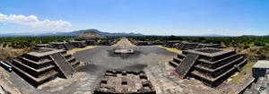 Teotihiacan - From Pyramid of Moon Pano