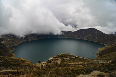 Quilotoa - Clouds on the Caldera by LLukeBE