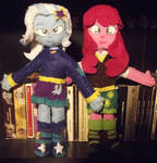 Custom Trixie And Cheerilee EG Plushies by GrapefruitFace1