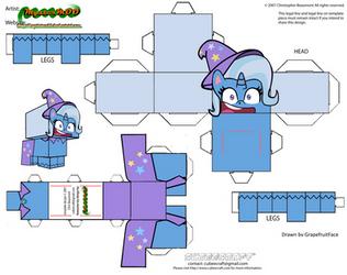 Cubeecraft Trixie Lulamoon (MLP : Pony Life)
