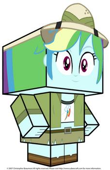 Rainbow Dash Cubee 3D