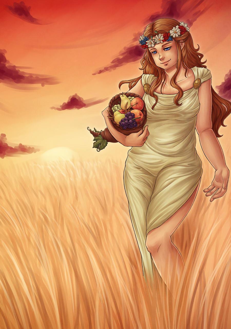 demeter greek goddess drawing - photo #30