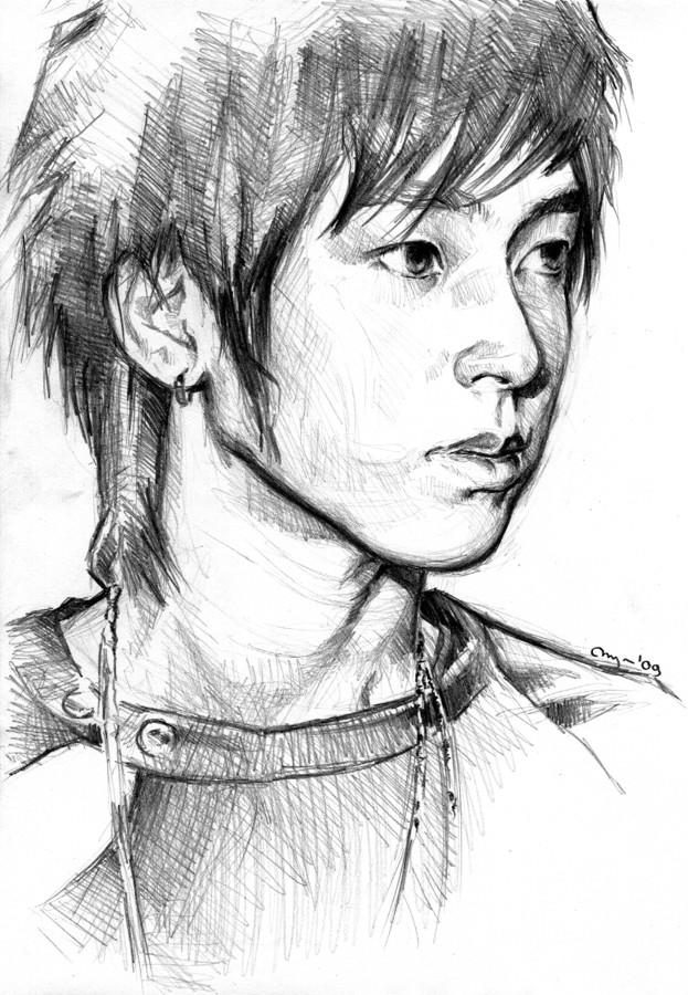 Yunho sketch ii by emenemsbis