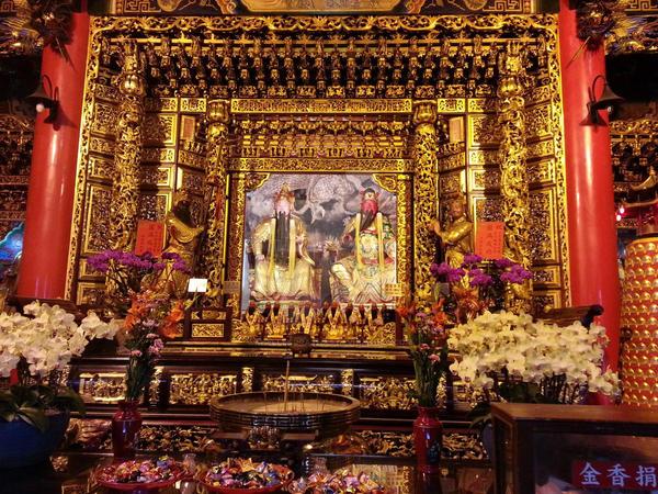 Temple Interior by Khellendrathas