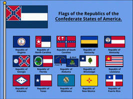 Flags of the Republics of the CSA by AlternateHistory
