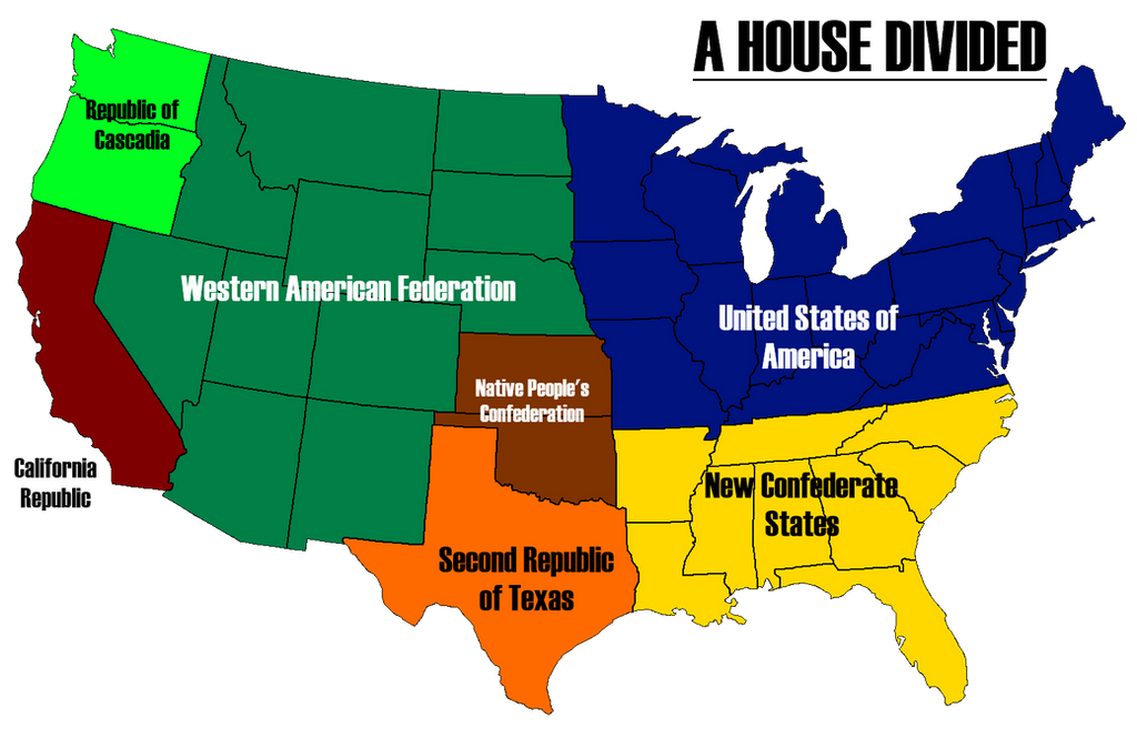 A House Divided - Map of America by AlternateHistory on DeviantArt