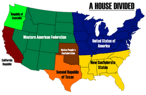 A House Divided - Map of America by AlternateHistory