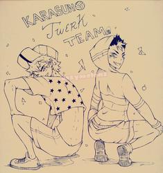 Karasuno Twerk Team by CozyMelons