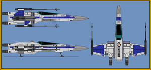 T-70 X-Wing Space Superiority Fighter 2.0 by wingzero-01-custom