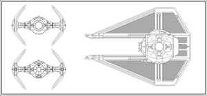 TIE/IN Interceptor Line Art by wingzero-01-custom