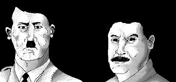 Hitler und Stalin .:r4nd0m sketching:. by xTheBoss