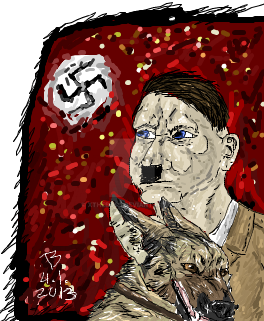 Blondi und Hitler .:iScribble sketching:. by xTheBoss