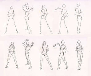 Sketches 28 - Woman standing practice