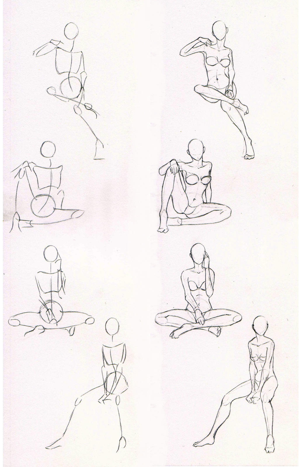 Pictures Of How To Draw Anime Girl Body Sitting Rock Cafe