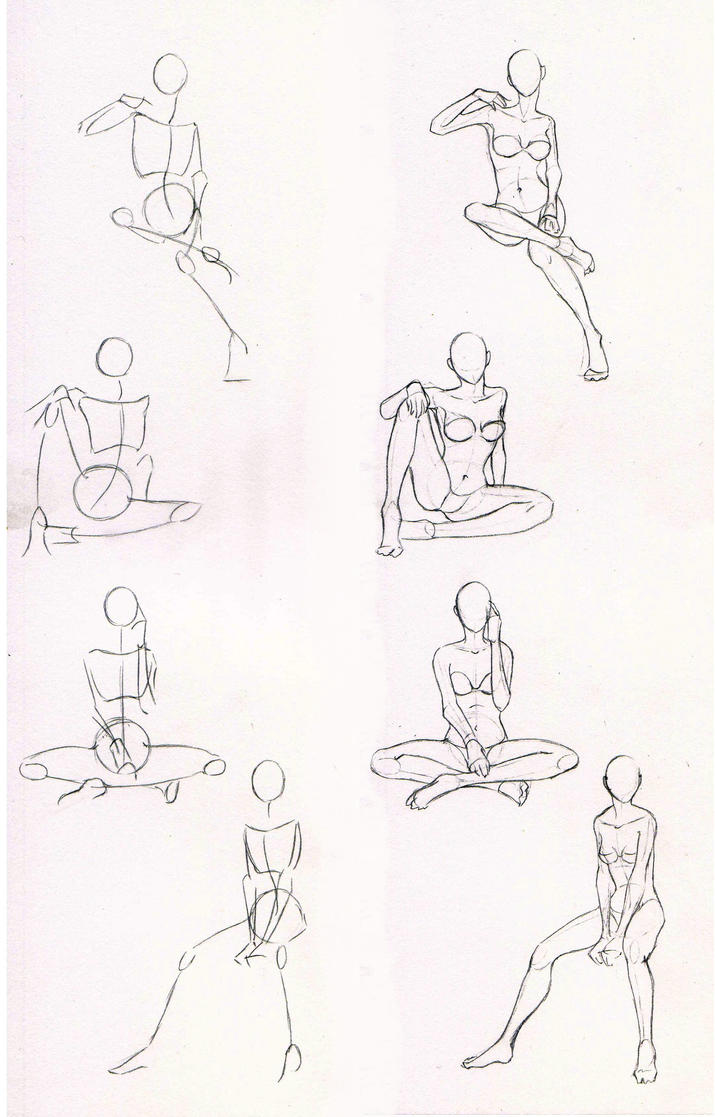 Sketches 29 Woman Sitting Practice By Azizla On Deviantart