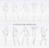Sketches 48 - Woman standing practice 2