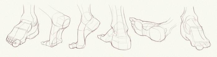 Anatomy Challenge, Part 05 - Feet by AzizlaSwiftwind