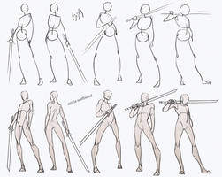 Self Practice - Swordsman Poses Pack