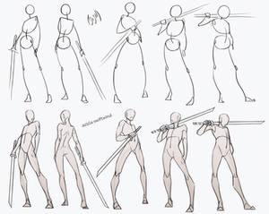 Self Practice - Swordsman Poses Pack