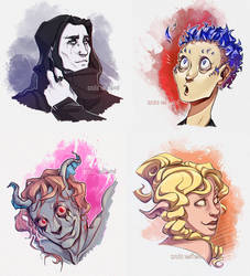 January OC Portraits by AzizlaSwiftwind
