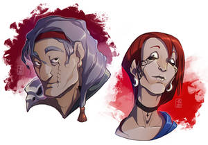July OCs Portraits - Madection and Ethros