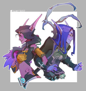 WoW Commission: Nonbinary Elves 2