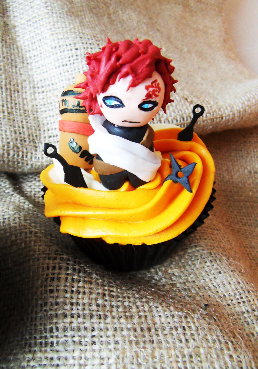 Gaara Cupcake by I-am-Ginger-Pops