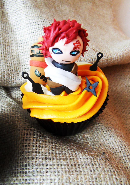 Gaara Cupcake by I-am-Ginger-Pops