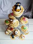 Sanrio cupcake tower