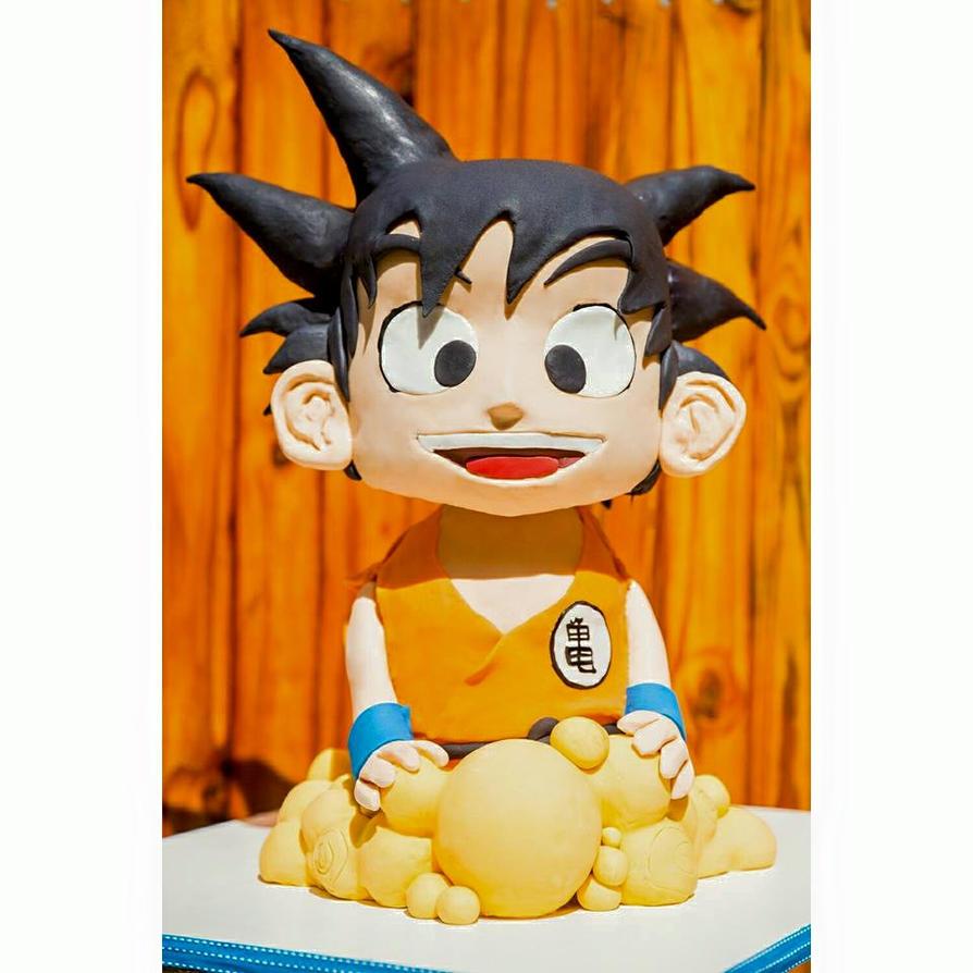 Goku Cake by I-am-Ginger-Pops